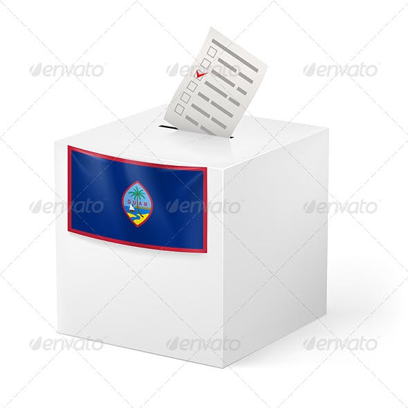 Ballot Box with Voting Paper Guam