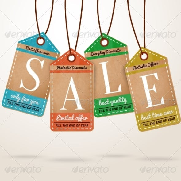 Cardboard Price Tags Sale Labels