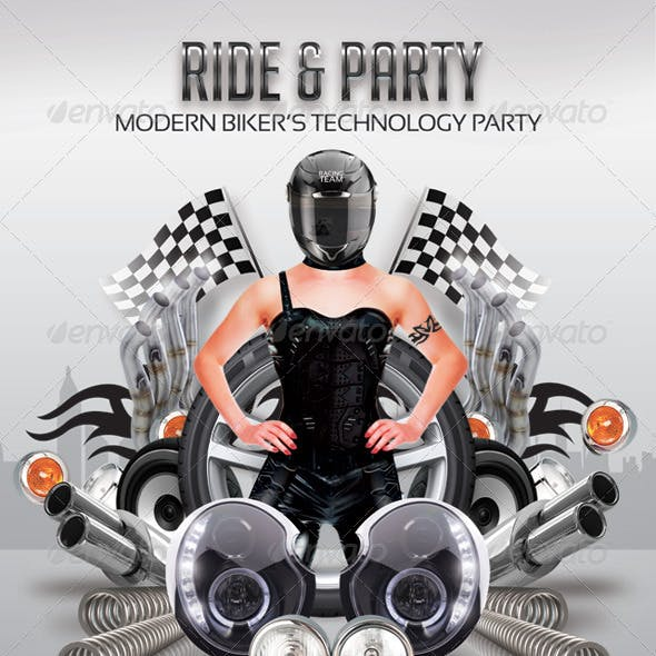 Modern Bikers Ride And Party