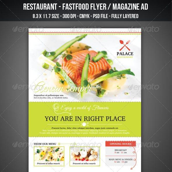 Restaurant - FastFood Flyer / Magazine AD