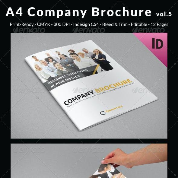 A4 Company Brochure vol.5