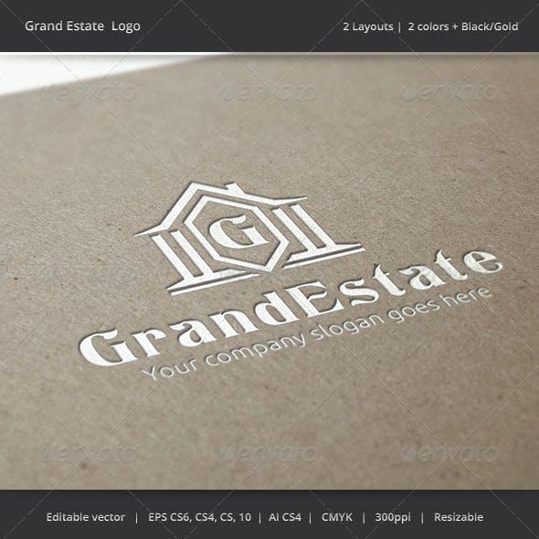 Grand Estate Letter Logo