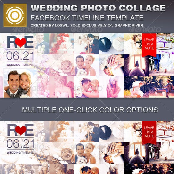 Wedding Photo Collage Facebook Timeline Cover