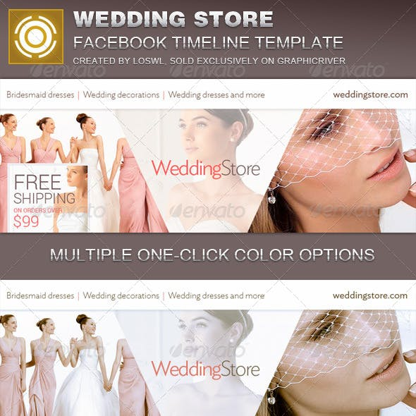 Wedding Store Facebook Timeline Cover Template