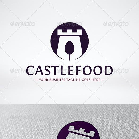 Castle Food Logo Template