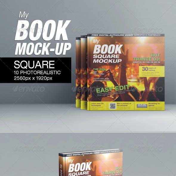 MyBook Square Mock-up