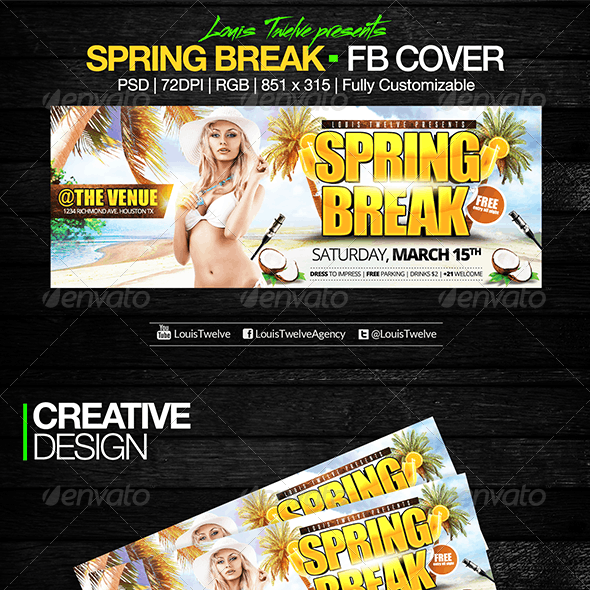Spring Break - Facebook Cover