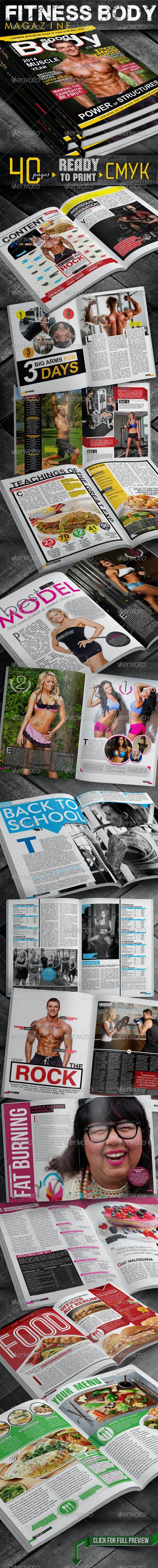 Fitness Body Magazine - Magazines Print Templates
