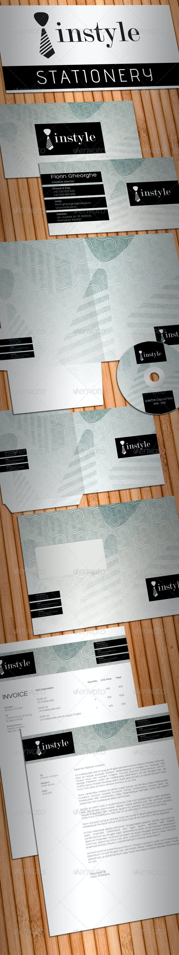 InStyle Fashion Stationery - Stationery Print Templates
