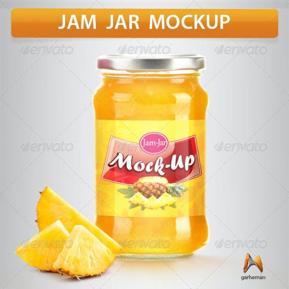 Jam Jar Mockup