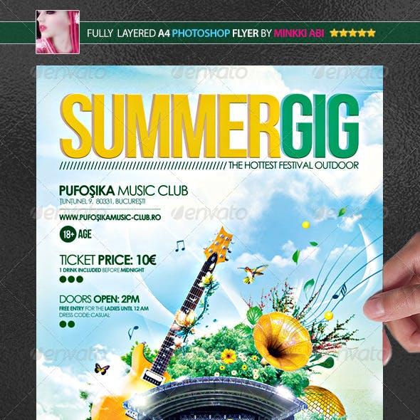 Summer Gig Poster/Flyer