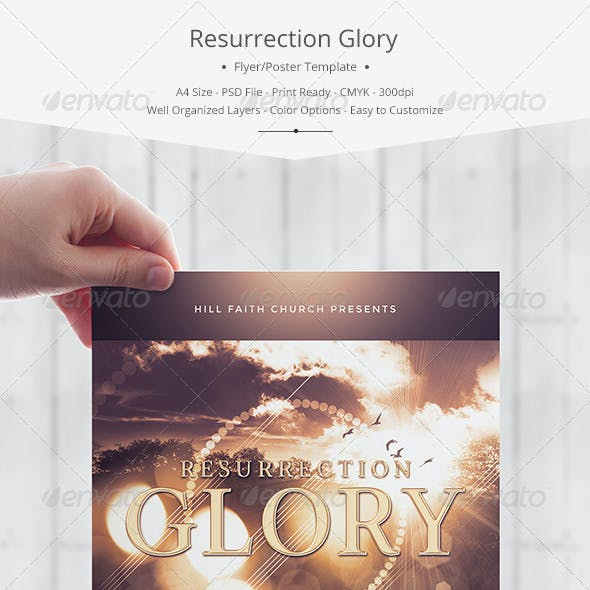 Resurrection Glory Flyer/Poster Template