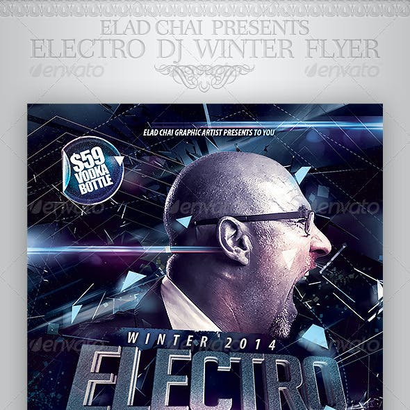 Electro Dj Party Flyer Template