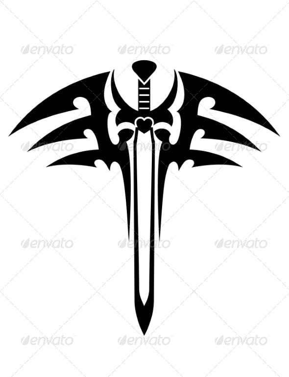 Tribal Tattoo with Sword