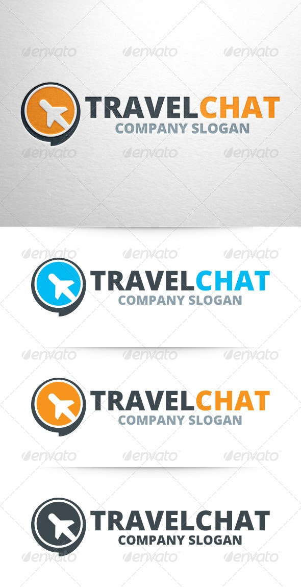 Travel Chat Logo Template - Objects Logo Templates