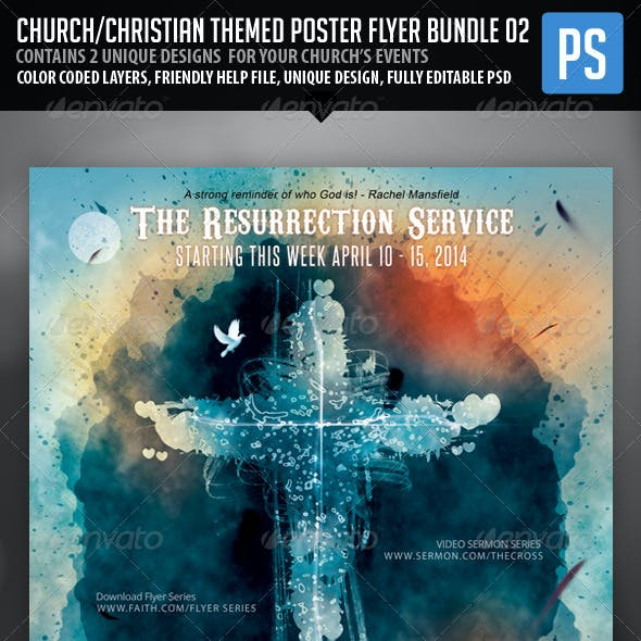 Church/Christian Themed Poster/Flyer Bundle#2