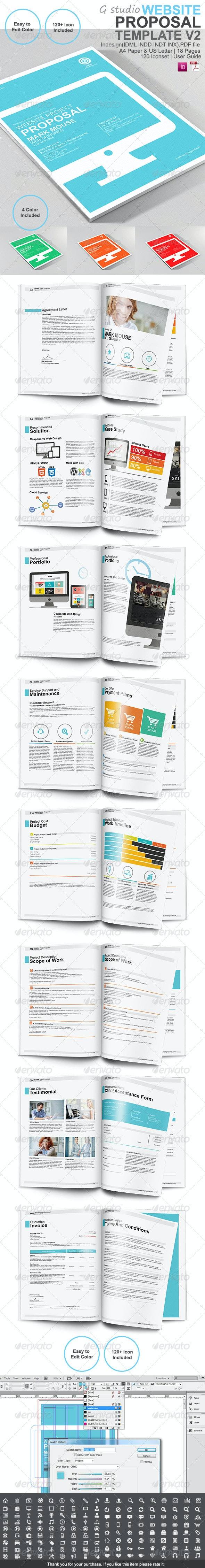 Gstudio Website Proposal Template V2 - Proposals & Invoices Stationery