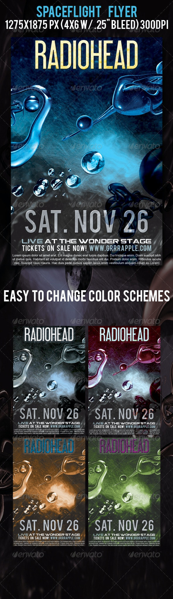 Spaceflight Music Event Flyer - Clubs & Parties Events