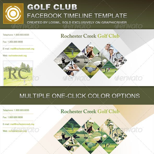 Golf Club Facebook Timeline Cover Template