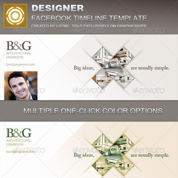 Designer Facebook Timeline Cover Template