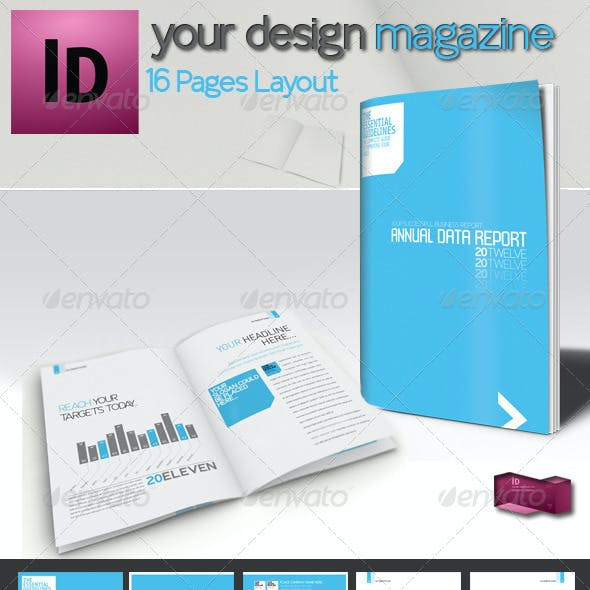 Professional Brochure // Magazine Template // A4