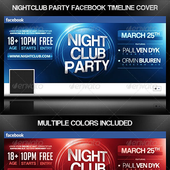 Nightclub Party Facebook Timeline Cover