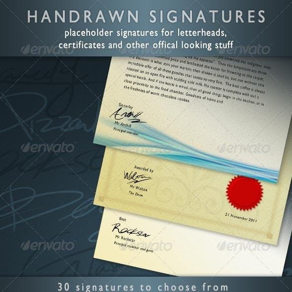 Placeholder Signatures