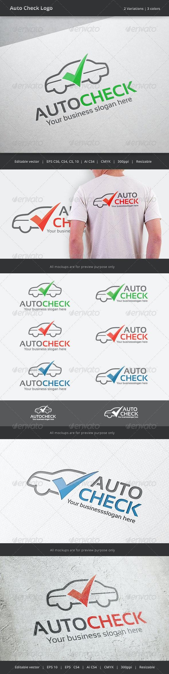 Auto Check Car Logo - Objects Logo Templates