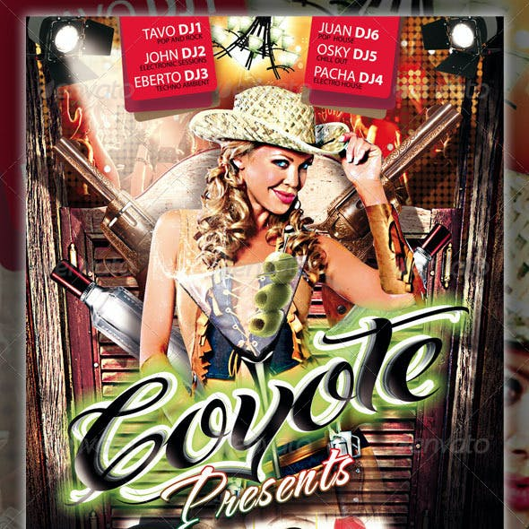 Coyote Party Flyer