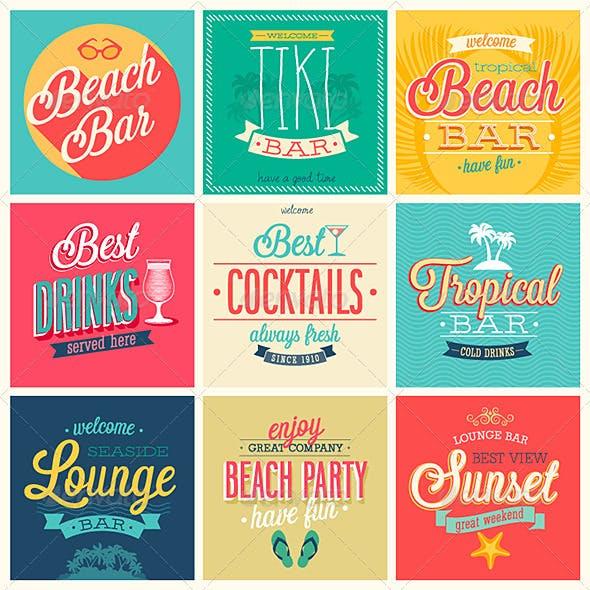 Beach Bar Emblems.