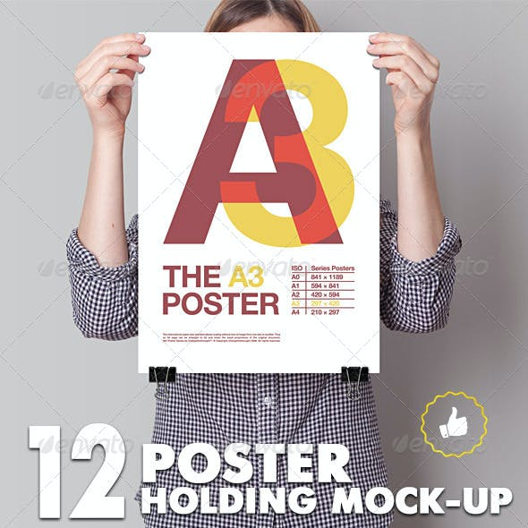 Poster Mockup / 12 Different Images