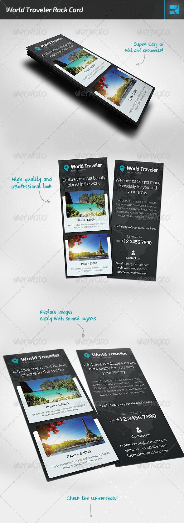 World Traveler Rack Card - Corporate Flyers