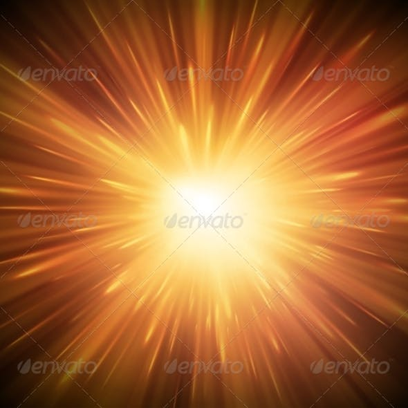 Background with Explosion