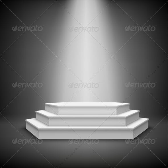 Illuminated Stage Podium