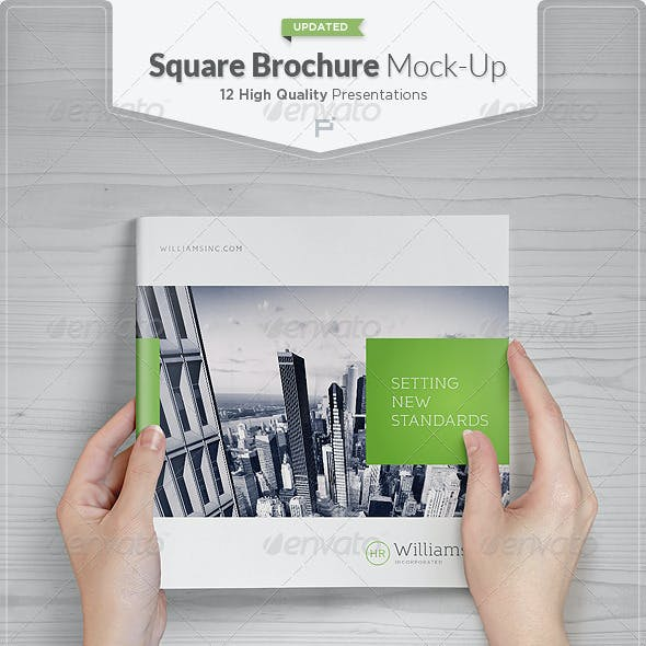 Square Brochure / Catalog Mock-Up Set