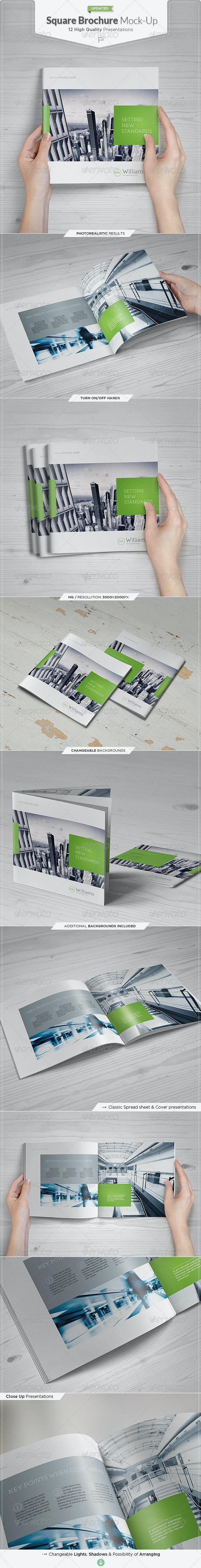 Square Brochure / Catalog Mock-Up Set - Brochures Print