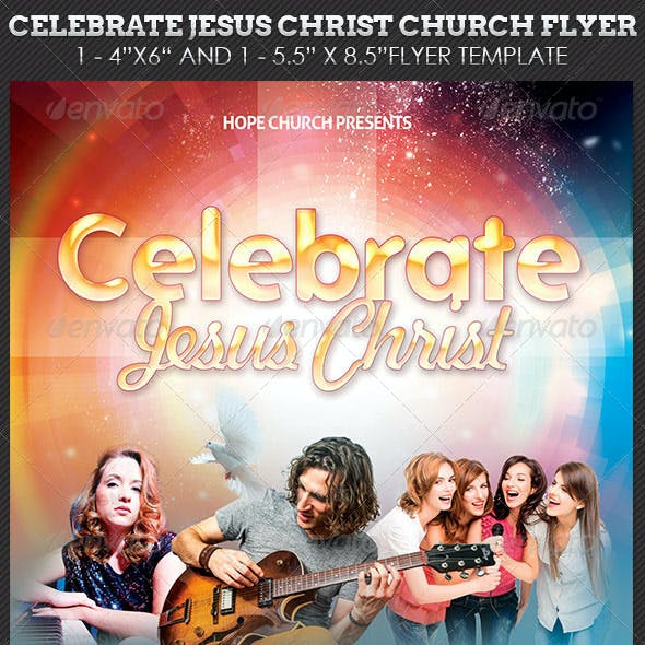 Celebrate Jesus Christ Concert Flyer Template