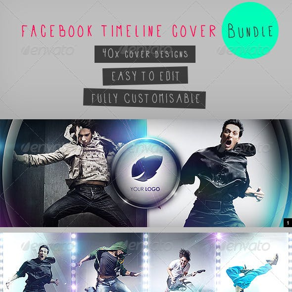 40 Facebook Timeline Cover Bundle