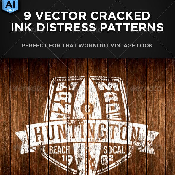 9 Vector Distressed Patterns