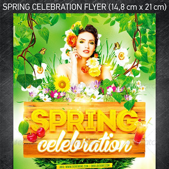 Spring Celebration Party Flyer