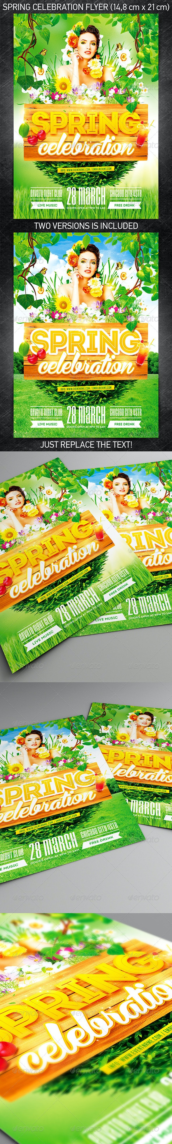 Spring Celebration Party Flyer - Holidays Events