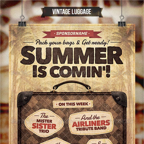 Vintage Luggage - Flyer & Poster