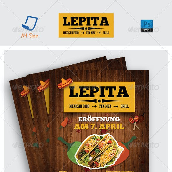 Mexican Food Flyer Templates