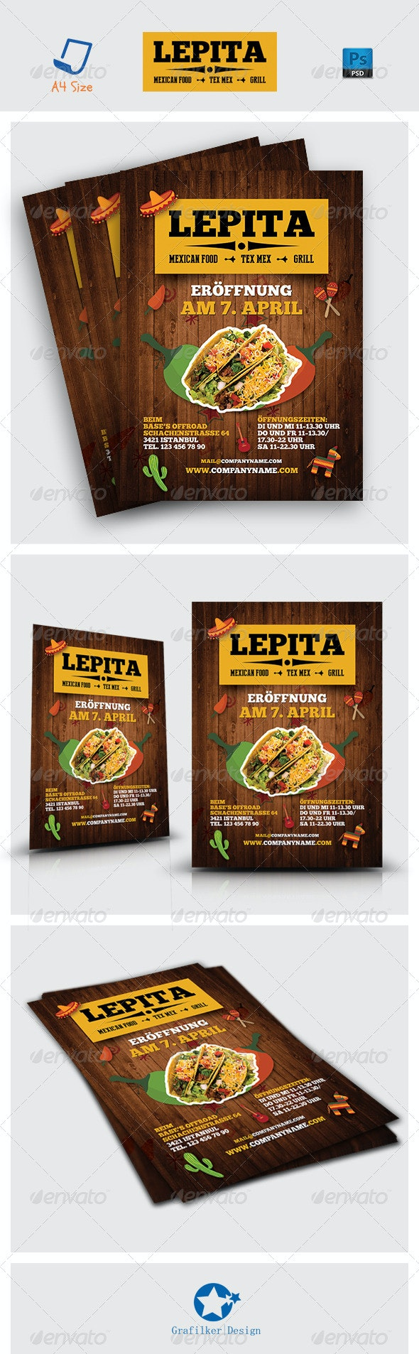 Mexican Food Flyer Templates - Corporate Flyers