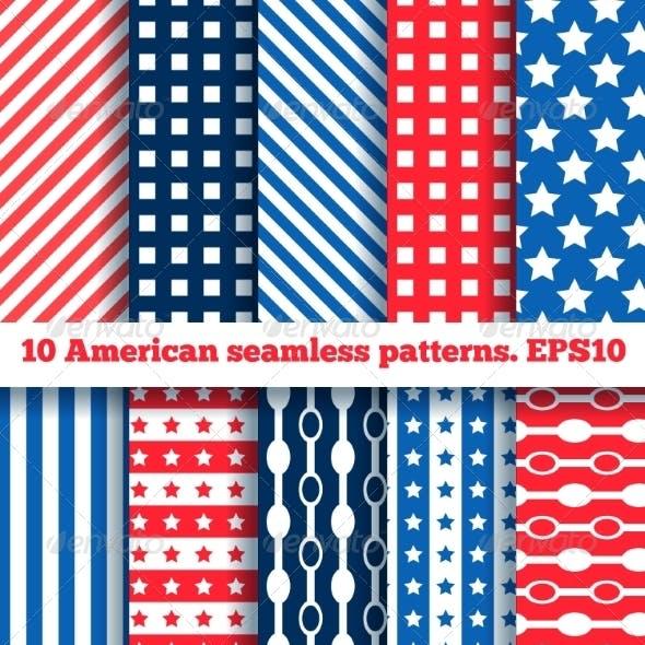 10 American Seamless Patterns