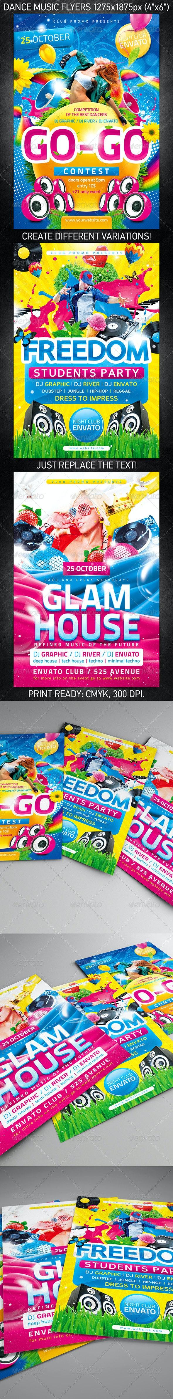 Dance Music Flyer Bundle - Clubs & Parties Events