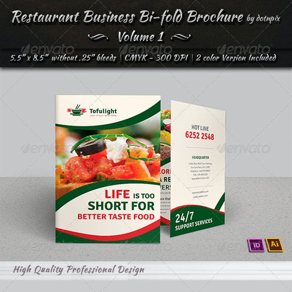 Restaurant Business Bi-Fold Brochure | Volume 1