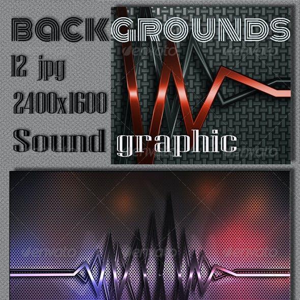 Sound Graphics Metal Background