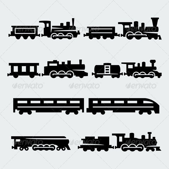 Trains Silhouettes