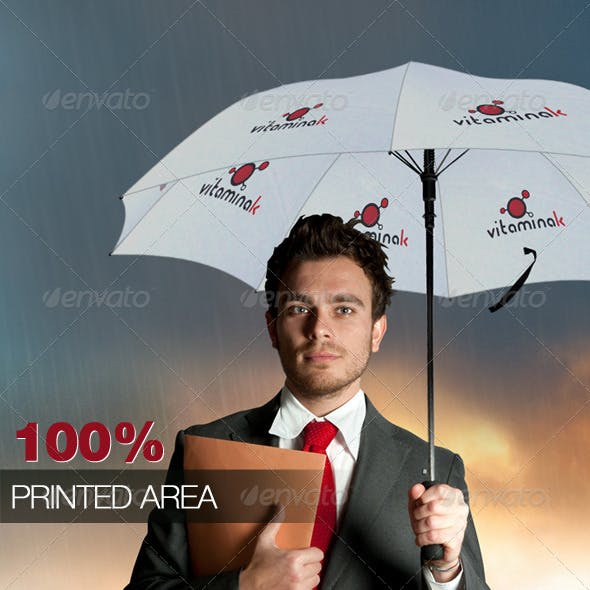 Umbrella Mock-up  100% Printed Area!